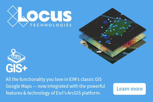 Locus GIS+ (GIS for environmental management) is built on Esri ArcGIS Platform