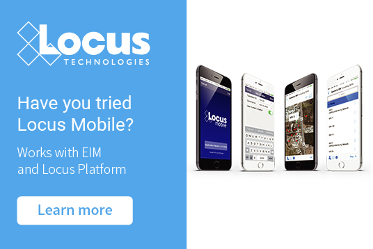 Locus Mobile for field data collection works with EIM and Locus Platform