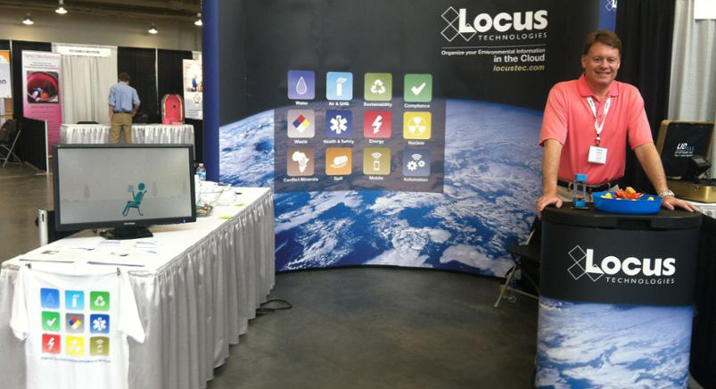 Locus exhibited at the 2014 North Carolina AWWA-WEA annual conference from April 7-8 in Wilmington, NC
