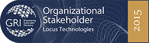 Locus Technologies is a Global Reporting Initiative (GRI) Organizational Stakeholder