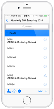 Configure planned sampling and monitoring events and ad hoc sampling with Locus Mobile